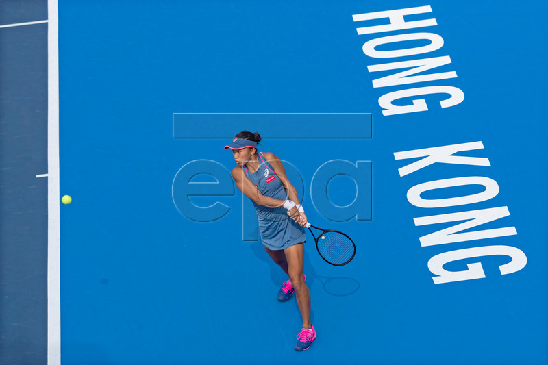 Zhang Shuai of China in action against Dayana Yastremska of Ukraine during their semi-final match at the Prudential Hong Kong Tennis Open 2018 in Hong Kong, China, 13 October 2018. EPA-EFE/JEROME FAVRE