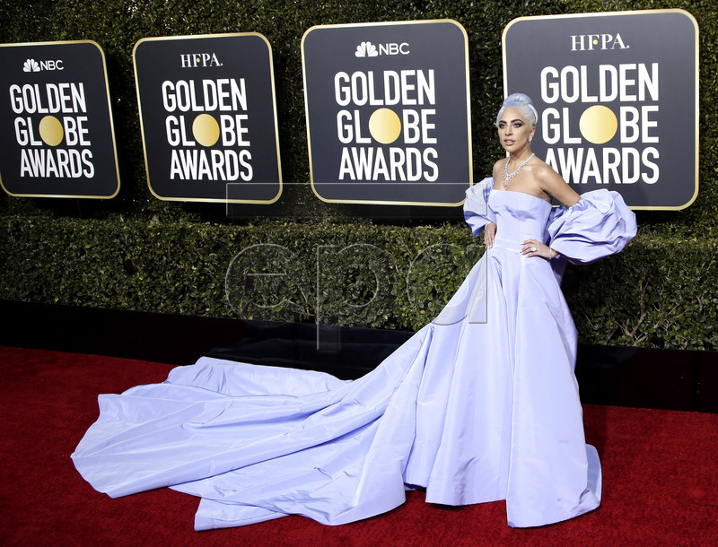 Lady Gaga arrives for the 76th annual Golden Globe Awards ceremony at the Beverly Hilton Hotel, in Beverly Hills, California, USA, 06 January 2019. EPA-EFE/MIKE NELSON