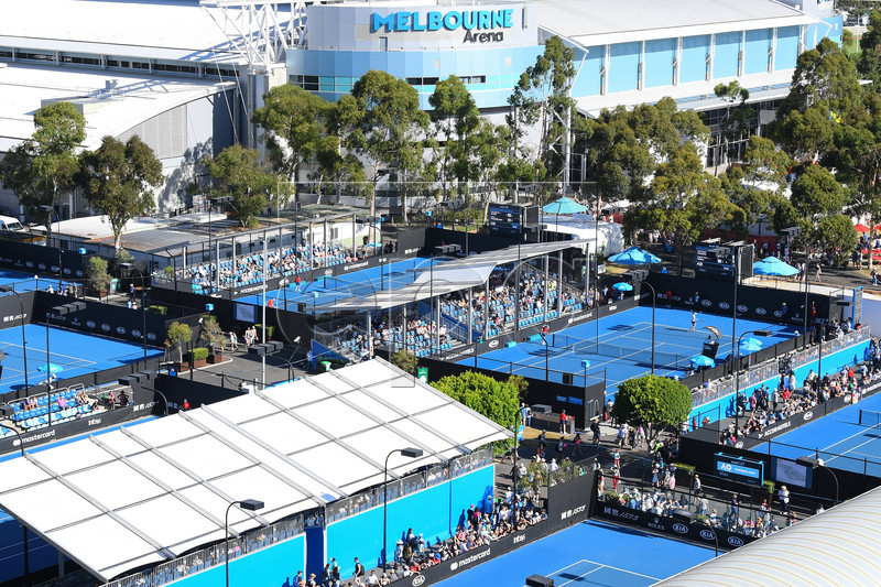 Courts are seen in front of Melbourne Arena during day six of the Australian Open Grand Slam tennis tournament in Melbourne, Australia, 19 January 2019. EPA-EFE/ERIK ANDERSON AUSTRALIA AND NEW ZEALAND OUT