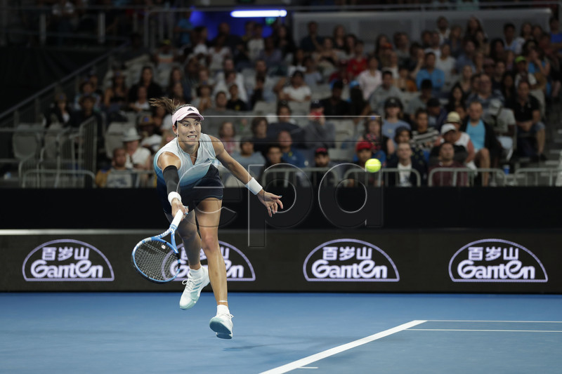 Garbine Muguruza of Spain in action during her round three women's singles match against Timea Bacsinszky of Switzerland at the Australian Open Grand Slam tennis tournament in Melbourne, Australia, 19 January 2019. EPA-EFE/RITCHIE TONGO