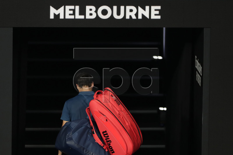 Roger Federer of Switzerland leaves the court on being defeated in his round four men's singles match against Stefanos Tsitsipas of Greece at the Australian Open Grand Slam tennis tournament in Melbourne, Australia, 20 January 2019. EPA-EFE/LYNN BO BO