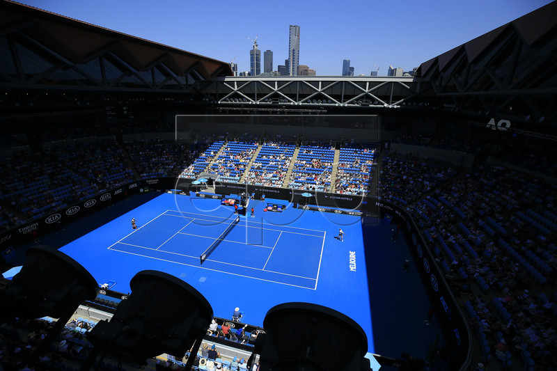 General view of Margaret Court Arena, during the round four women's singles match between Madison Keys of the USA and Elina Svitolina of Ukraine at the Australian Open Grand Slam tennis tournament in Melbourne, Australia, 21 January 2019. EPA-EFE/RITCHIE TONGO