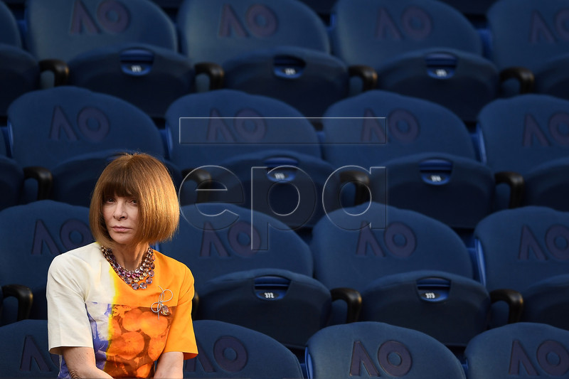 American fashion editor Anna Wintour is seen before the men's singles semi final match between Stefanos Tsitsipas of Greece and Rafael Nadal of Spain at the Australian Open tennis tournament in Melbourne, 24 January 2019. EPA-EFE/JULIAN SMITH EDITORIAL USE ONLY AUSTRALIA AND NEW ZEALAND OUT