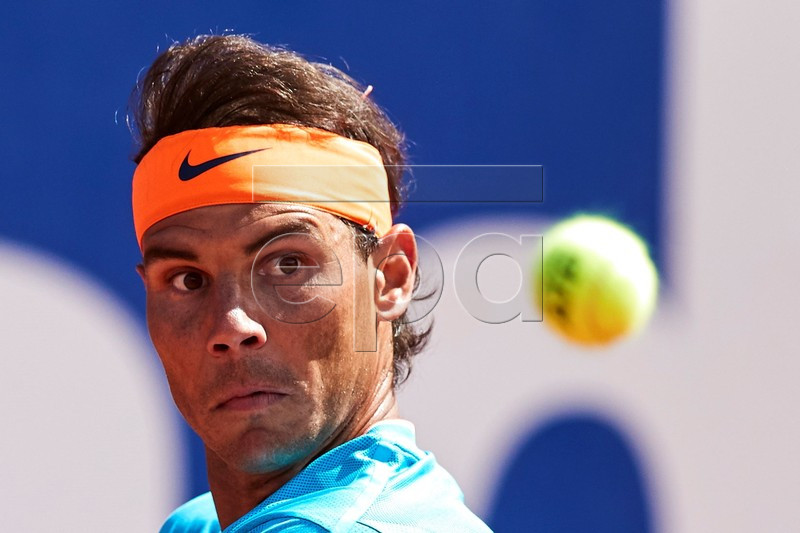 Rafael Nadal of Spain in action during his second round match against Leonardo Mayer of Argentina at the 67th Barcelona Open Trofeo Conde de Godo tennis tournament in Barcelona, Spain, 24 April 2019. EPA-EFE/ALEJANDRO GARCIA