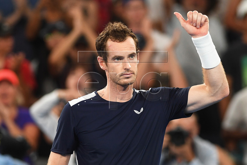 Andy Murray of Britain acknowledges the audience after losing his first round match against Roberto Bautista Agut of Spain at the Australian Open tennis tournament in Melbourne, Australia, 14 January 2019. EPA-EFE/JULIAN SMITH AUSTRALIA AND NEW ZEALAND OUT