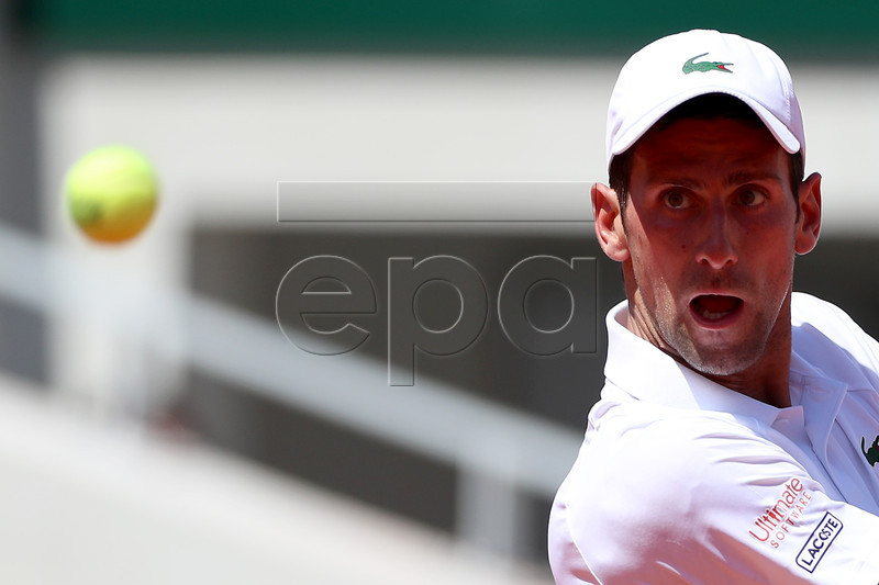 Novak Djokovic of Serbia plays Salvatore Caruso of Italy during their men?s third round match during the French Open tennis tournament at Roland Garros in Paris, France, 01 June 2019. EPA-EFE/SRDJAN SUKI
