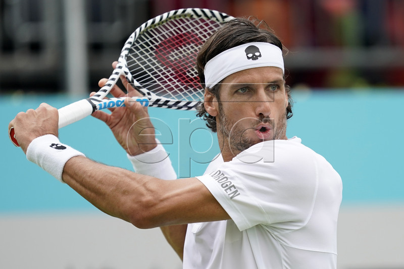 Spain's Feliciano Lopez during his round 32 match against Marton Fucsovics of Hungary at the Fever Tree Championship at Queen's Club in London, Britain, 19 June 2019. EPA-EFE/WILL OLIVER
