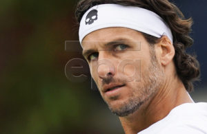 Feliciano Lopez of Spain reacts during his quarter final match against Milos Raonic of Canada at the Fever Tree Championship at Queen's Club in London, Britain, 21 June 2019. EPA-EFE/WILL OLIVER