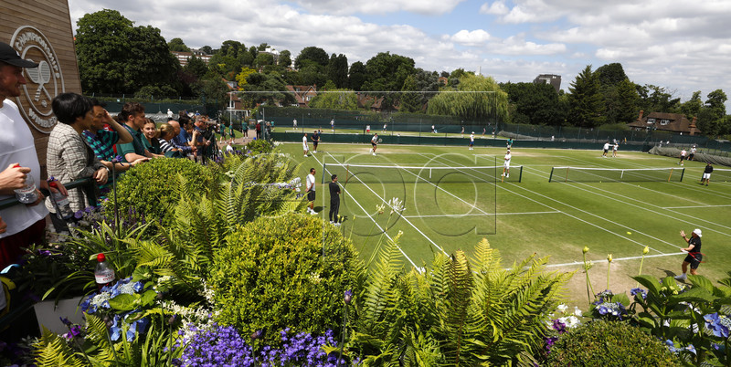 General view of the courts during a training session for the Wimbledon Championships at the All England Lawn Tennis Club, in London, Britain, 30 June 2019. EPA-EFE/NIC BOTHMA EDITORIAL USE ONLY/NO COMMERCIAL SALES